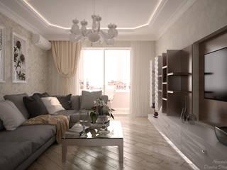 Klassische Wohnzimmer von Студия интерьерного дизайна happy.design Klassisch