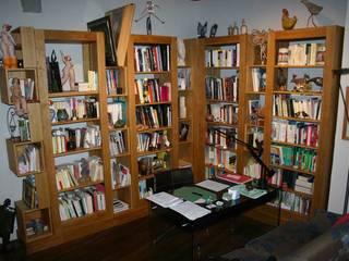 Bibliothèque chêne huilé:  de style  par l 'estampille