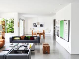 São Paulo - Apartment Salas de estilo moderno de SAO Arquitetura Moderno