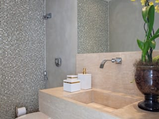 ANGELA MEZA ARQUITETURA & INTERIORES Modern style bathrooms