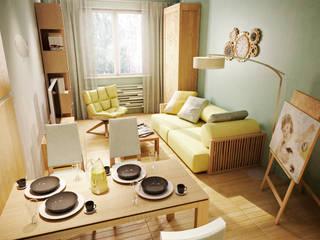 Salon de style  par Marina Sarkisyan, Scandinave