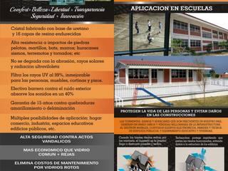 APLICACION DE CRISTALES TECHNOCLEAR EN ESPACIOS EDUCATIVOS Escuelas de estilo industrial de Hardtekstore Industrial