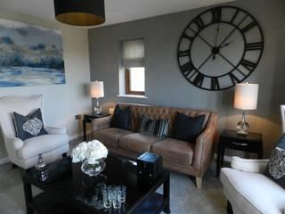 Show-home Templeton Pembrokeshire Modern living room by KD DESIGNS LTD Modern