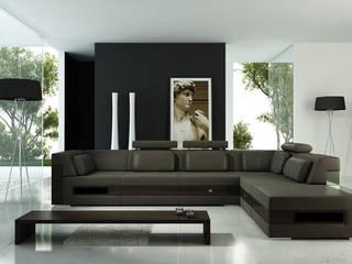 3D fotorealistici e progettazione di interni: Soggiorno in stile  di Studio Farina Zerozero - 3D & Progettazione