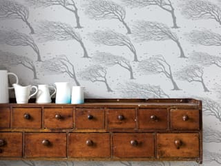Bold & Noble Northeasterly Wallpaper in Soft Grey:   by Bold & Noble