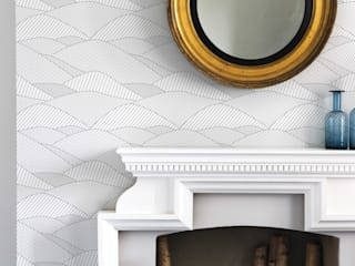 Bold & Noble South Downs Wallpaper in Heron Grey:   by Bold & Noble