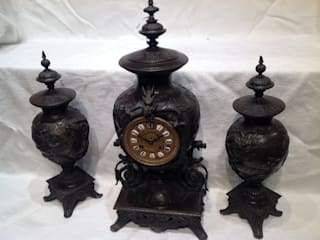 Three piece Chinese style clock set.: classic  by London Antique Clock Centre, Classic