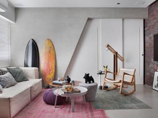 Studio ro+ca 现代客厅設計點子、靈感 & 圖片