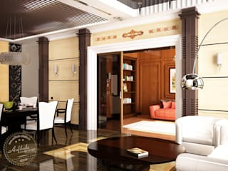 Living room by Anfilada Interior Design, Eclectic