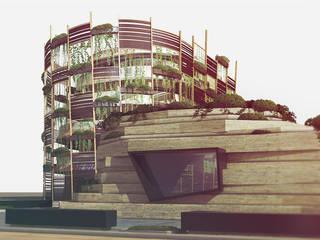 ristrutturazione edificio con schermatura solare Complesso d'uffici moderni di belliniderocco Moderno