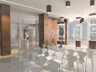Ristrutturazione Foyer sede ENEL di Napoli Sedi per eventi moderne di belliniderocco Moderno