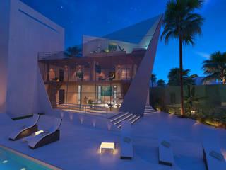 casa blu: Case in stile in stile Moderno di belliniderocco