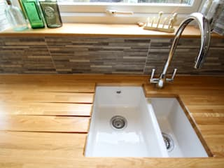 Sink with drain grooves on the worktop de AD3 Design Limited Clásico
