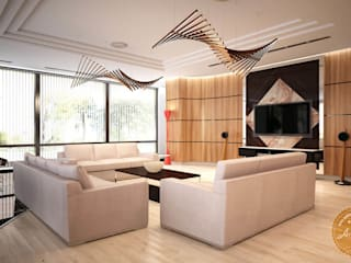Living room by Anfilada Interior Design, Minimalist