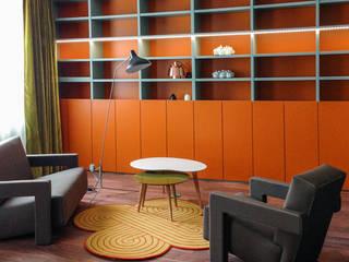 L'appartement d'une business woman mélomane Bureau moderne par Jean-Bastien Lagrange + Interior Design Moderne