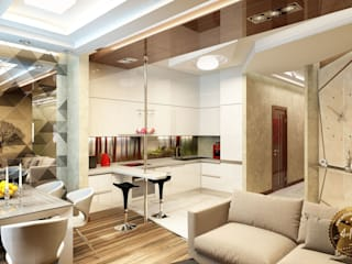 Dining room by Anfilada Interior Design, Eclectic
