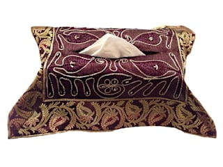 JT Cairy Tissue Box Cover: asian  by Indian Interiors, Asian