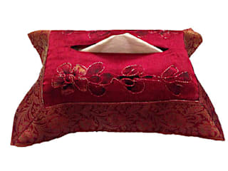 DHP Bold Tissue Box Cover: asian  by Indian Interiors, Asian