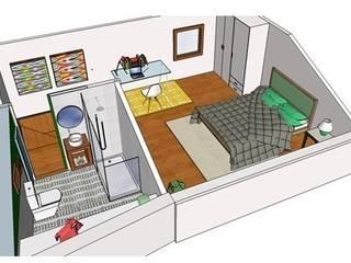 Rustic style bedroom by Buena Pieza Interiorismo Rustic