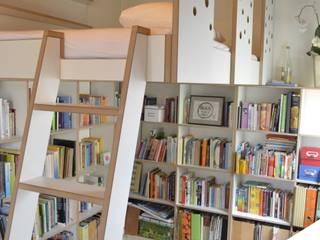 Bücherregal und Hochbett von Lars Führmann Tischlerei Minimalistisch