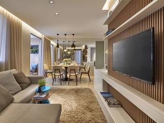 Apartamento Pampulha: Salas de estar  por Fernanda Sperb Arquitetura e interiores,Moderno