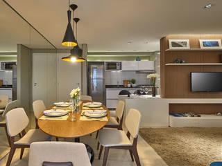Apartamento Pampulha: Salas de jantar  por Fernanda Sperb Arquitetura e interiores,Moderno