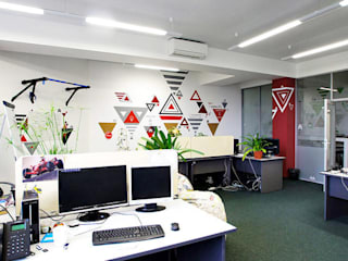 Оформление офиса WebSoft Офисные помещения в эклектичном стиле от 33dodo Эклектичный