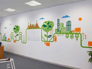 Оформление офиса компании «Аванта» Офисные помещения в эклектичном стиле от 33dodo Эклектичный