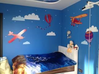 Облака и самолеты в детской комнате Детские комната в эклектичном стиле от 33dodo Эклектичный