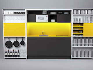 Pop-up kitchen PIA - Web de Dizzconcept Moderno
