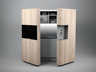 Pop-up kitchen PIA - Wood de Dizzconcept Moderno