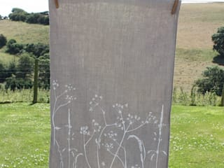 Hand Printed Linen Tea -Towels: country  by Helen Round, Country