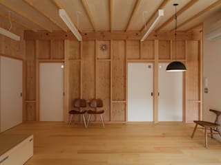 吉永の家 オリジナルデザインの リビング の 岸本泰三建築設計室 オリジナル