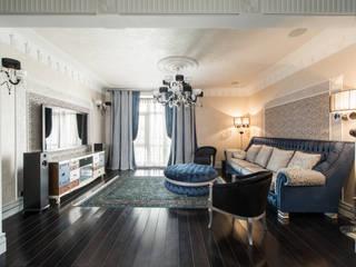 Апартаменты в Лялином переулке Premier Dekor Гостиные в эклектичном стиле