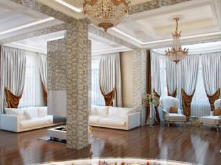 Дом в поселке Вирки Гостиная в классическом стиле от Студия дизайна интерьера Маши Марченко Классический