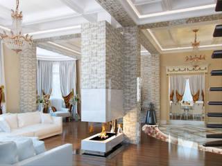 Salas de estilo clásico de Студия дизайна интерьера Маши Марченко Clásico