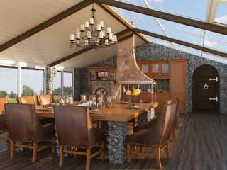 Dining room by Студия дизайна интерьера Маши Марченко