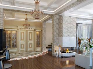 Pasillos, vestíbulos y escaleras de estilo clásico de Студия дизайна интерьера Маши Марченко Clásico