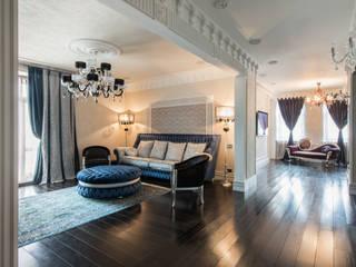 Апартаменты в Лялином переулке Гостиные в эклектичном стиле от Premier Dekor Эклектичный