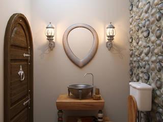 浴室 by Студия дизайна интерьера Маши Марченко
