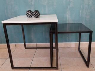 table de brut en blanc:  de style  par L.Decor