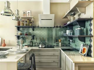 дизайн квартиры 32м2 Кухня в стиле модерн от sreda Модерн