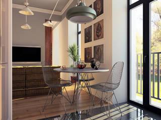 дизайн квартиры 35м2 г. Москва Кухня в скандинавском стиле от sreda Скандинавский