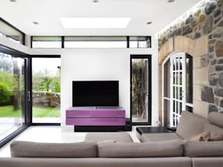 Linlithgow Extension George Buchanan Architects Minimalist living room
