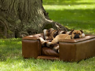 Dog Sofa - Sandringham small in Natural Italian Leather:   by Scott's of london