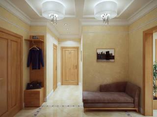 Corridor & hallway by Студия интерьера 'SENSE'