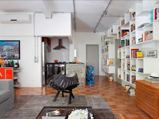 Salones de estilo moderno de Barbara Filgueiras arquitetura Moderno