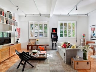 Apartamento Laranjeiras: Salas de estar  por Barbara Filgueiras arquitetura,Moderno