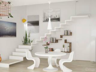 RENDERING ARCHITETTONICO INTERNO: Ingresso & Corridoio in stile  di Mario Longo