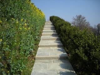 Jardin méditerranéen par Luserna Stone Méditerranéen